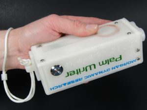 Palm Writer Held In A Standard Grip Without The Hand Strap Attached