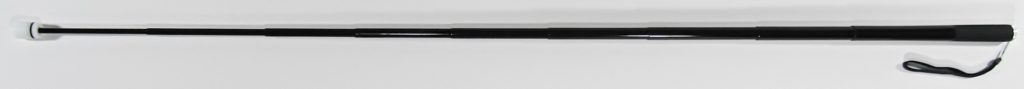 48 Inch Piano Black Cane With Standard Tip Fully Extended