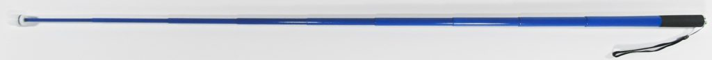 48 Inch True Blue Cane With Standard Tip Shown Extended