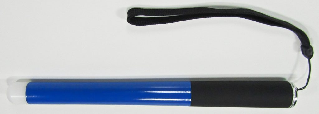 48 Inch True Blue Cane With Standard Tip Shown Collapsed